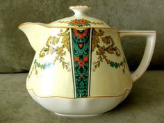 CROWN DUCAL WARE ART NOUVEAU TEAPOT