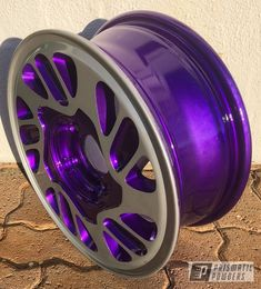 Prismatic Powders - Powder Coated 15 Inch Two Tone Wheel Rims For Cars, Rims And Tires, Car Wheels, Powder Coating, Alloy Wheel, Silver Color, Illusions, Bmw, Cool Stuff