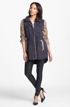 Sam Edelman Anorak, Wit & Wisdom Coated Skinny Jeans  available at #Nordstrom