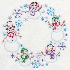 Machine Embroidery Designs at Embroidery Library! - Source by amyswencak Christmas Embroidery Patterns, Machine Embroidery Patterns, Embroidery Applique, Cross Stitch Embroidery, Machine Embroidery Projects, Embroidery Techniques, Needlework, Snowmen, Sewing