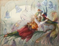 Artist: John Anster Fitzgerald Painting: The Realms of Fairydom Fairytale Fantasies, Fairytale Art, Art Et Illustration, Illustrations, Art Fantaisiste, Fairy Paintings, Hieronymus Bosch, Vintage Fairies, Fairy Art