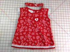 Size 2t Cupids and Hearts Dress and Headband