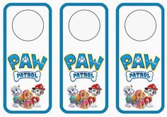 Paw Patrol Door Hangers – Birthday Printable