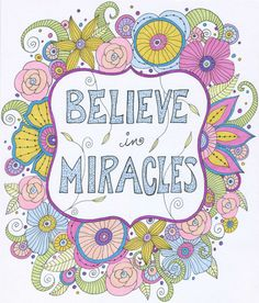 Believe in Miracles Art Print Inspirational by ValerieLorimer, $30.00