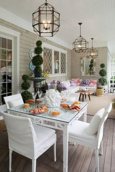 The Annual Hampton Designer Showhouse opened on Sunday, July Presented by Traditional Home magazine and benefiting the Southampt. Outdoor Areas, Outdoor Rooms, Outdoor Living, Outdoor Decor, Traditional Home Magazine, White Porch, Small Backyard Gardens, Cool Rooms, Beautiful Interiors