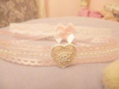 ✿*゚'゚・✿.。.:* Magic Pearl Heart*.:。✿*゚'゚・✿.: DIY Hime Gyaru Lace/Ribbon Chokers