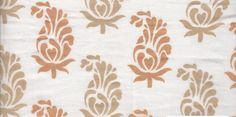 Organic Cotton Fabric Stylised Paisley Print by EcoFabricStore, $11.99