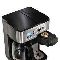 Maximize your brewing options with the versatile 2-Way FlexBrew Coffee Maker from Hamilton Beach. Unit allows you to brew a 12-cup pot or a single cup of coffee using ground coffee beans or K-Cup® packs in one compact, convenient unit.