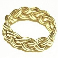 14k gold braided ring