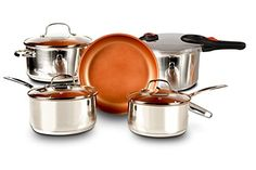 Enjoy this Special Deal Buy The NuWave 7Piece Duralon Healthy Ceramic NonStick Cookware Set Today And Get The NuWave Pressure Cooker Absolutely Free * You can get more details by clicking on the image.