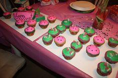 Watermelon Birthday Cake and Cupcakes