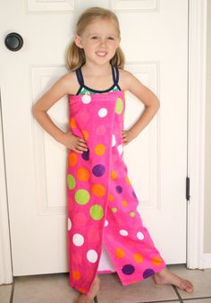 sew beach cover up   How To Make a Beach Towel Cover Up - Make and Takes