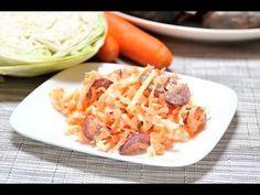 Ensalada de col con zanahoria. Una sabrosa y sencilla @ensaladilla para acompañar platillos de @aves, @carnes y @pescados.