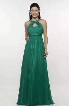 Vestido verde longo