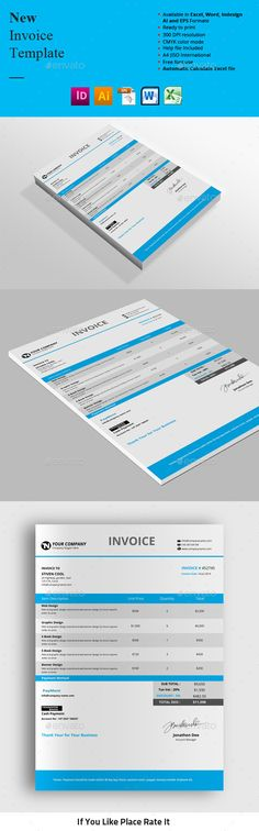 Creative Invoice Photoshop, Stationery and Letters - invoice spreadsheet template free