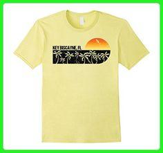 Mens Retro Key Biscayne Florida Vintage Sunset Beach T-shirt 3XL Lemon - Retro shirts (*Amazon Partner-Link)