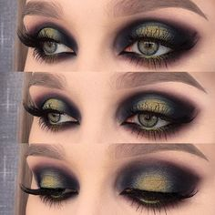 """IG Inspiration: Inspired by the northern lights ✨ I used @urbandecaycosmetics electric palette (shadows: chaos, freak and thrash) and eyeshadow blackout 