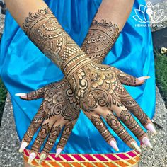 """""""Hello everyone! I finally had the time to draw a little something on me. I needed some henna…"""" Modern Mehndi Designs, Dulhan Mehndi Designs, Wedding Mehndi Designs, Mehndi Design Pictures, Beautiful Mehndi Design, Mehndi Designs For Hands, Wedding Henna, Mehndi Images, Arabian Mehndi Design"""