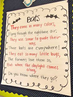 A day in first grade: Bat week has started!
