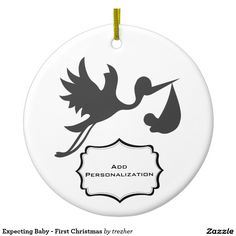 Expecting Baby - First Christmas Ceramic Ornament