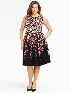 Talbots - Gladiola-Print Sateen Dress   Dresses   Woman Petites
