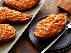Twice-Baked Sweet Potatoes Recipe : Bobby Flay : Food Network