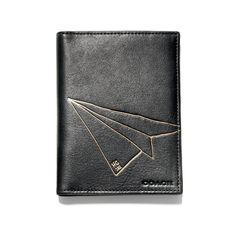 Hugo Guinness for Coach: Paper Airplane Passport Case.