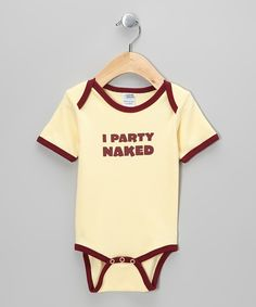 Butter 'I Party Naked' Organic Bodysuit - Infant   Daily deals for moms, babies and kids
