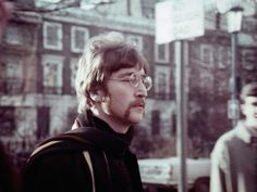 John (and The Beatles) during the filming of a promotional clip for Strawberry Fields Forever, 1967