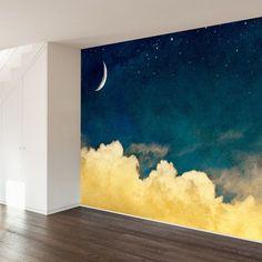 Bedroom Murals, Bedroom Decor, Bedroom Wallpaper, Funky Bedroom, Bedroom Ideas, Nursery Wall Murals, Bedroom Green, Bedroom Bed, Bedroom Inspiration