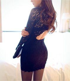 New style nightclub sexy backless dress, Slim package hip lace dress DFS