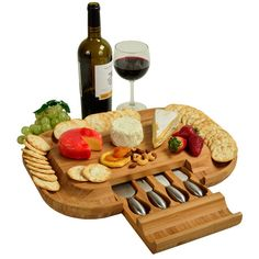 Malvern Deluxe Bamboo Cheese Board Set with 4 Tools