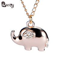 2016 Vintage Gold Silver Platd Choker Necklace Elephant Animal Charms Pendant Crystal Necklaces Jewelry for Women Accessorie nb