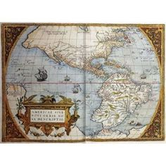 Map of America From Theatrum Orbis Terrarum Canvas Art - Abraham Ortelius (20 x 28)