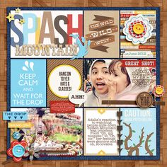 "Disney Splash Mountain Project Life page by raquels featuring ""Project Mouse: Frontier"" by Britt-ish Designs and Sahlin Studio"