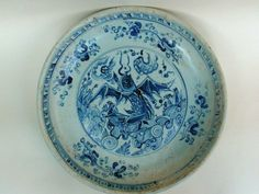 A RARE LARGE B/W DISH WITH A FLYING FISH. MING DYNASTY 15TH CENTURY, POSSIBLY XUANDE TO INTERREGNUM PERIOD.