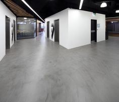 Honestone's polished cement flooring