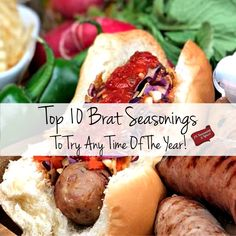 Bratwurst Recipes, Grilled Sausage, Sausages, Recipe Of The Day, Hot Dogs, Barbecue, Hamburger, Grilling, Meals