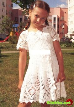 Crotchet Baby Dress