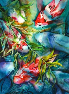 "Art Works: ""Koi's World""    Jorge Leon Montero"