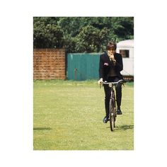 Singer Paul McCartney on a bike in the 60's. #moodoftheday #mood #paulmccartney #beatles #60s #weekend #sundayfunday #bike #singer #menwithclass #menswear