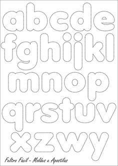 Feltro Fácil: Molde do Alfabeto                                                                                                                                                     Mais