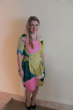 Elisalex Dress using By Hand London Pattern Nani Iro Fabric