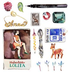 Holly Exley Illustration: A collection of things that remind me of you.