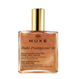 NUXE Huile Prodigieuse Or Multi-Usage Dry Oil - a heavenly scented dry oil which can be used on the skin and even the hair, for a beautiful shimmer - it really helps to accentuate a tan too! Perfume Glamour, Perfume Hermes, Best Drugstore Self Tanner, Shimmer Oil, Creme Anti Rides, Best Bronzer, French Skincare, French Beauty, Beauty Products