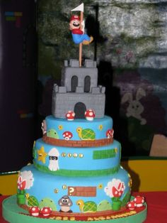 43 Ideas Birthday Wishes For Brother Super Mario For 2019 Mario Birthday Cake, Birthday Cake For Husband, Super Mario Birthday, Mario Bros Kuchen, Mario Bros Cake, Bolo Do Mario, Bolo Super Mario, Cupcakes Super Mario, Super Mario Bros