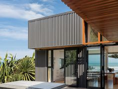 Dimond V-Rib - ColorCote AlumiGard in Black - Makoriri Beach House - Location: Gisborne Colour Black, Color, Cladding, Black House, Pergola, House Ideas, Houses, Architecture, Gallery