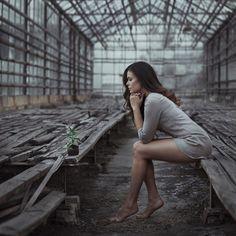 girl and flower by David Dubnitskiy on 500px