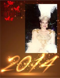 Ana Luisa Sayavedra Reina de Calle Arriba le da la bienvenida al #AñoNuevo 1995.