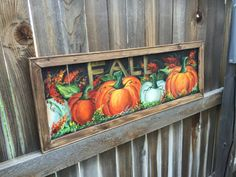 MADE TO ORDER -Old window screen, Recycled Fall art ,hand painting on the window screen,original